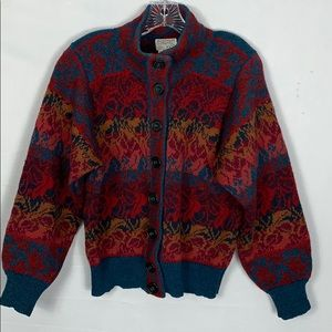 Margaret Hyne Made In Scotland Wool Cardigan Med